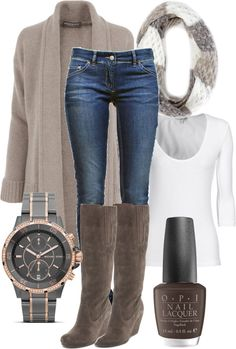 """""""Weekend Chic 8"""" by cathsgsr on Polyvore minus the watch its to masculine."""