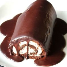 The fact that this photo is dominated by chocolate ganache makes this whipped cream-stuffed cake roll even more appealing. Get the recipe from Oh Sweet Day.