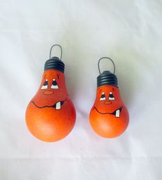 This listing is for one Pumpkin decorative painted lightbulb. Choose Large or Small. Large is a standard lightbulb approximately 4.25 tall,