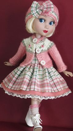 """Tonner Patience 14/"""" doll clothes Rose Vintage lace dress fashion outfit"""