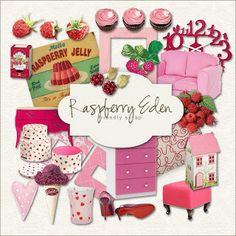 Vintage Raspberries Labels | Click HERE to download Freebies Kit - Raspberry…