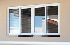 modelos de portas e janelas de alumínio | Janelas - M - Janelas - Trollada.com.br House Windows, House Doors, Aluminium Windows, My House, Blinds, My Dream Home, House Plans, Wooden Doors, Curtains