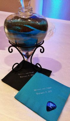 Turquoise and Black Wedding Colors
