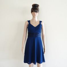 Sleeveless version, also cute and affordable! $59! Navy Blue Bridesmaid Dress.Navy Blue Party Dress