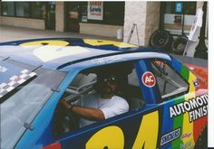 Sitting in Jeff Gordon Old Race Car at one of our Automotive Paint Stores ( Nick Chicone ) Ppg Paint, Old Race Cars, Paint Companies, Jeff Gordon, Racing, Running, Auto Racing