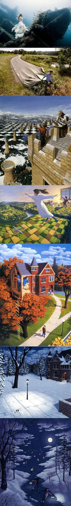 Mind Bending Optical Illusion Paintings by Rob Gonsalves (2 of 3)