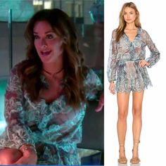 Kyle Richards Blue Lace romper in New York http://www.bigblondehair.com/real-housewives/kyle-richards-light-blue-lace-romper/