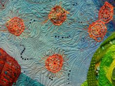 "Cat Patches - Quilt ""Queen of the Sea"" by Cathy Franks"