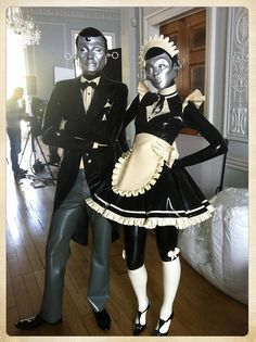 Robot Butler and Maid Costumes