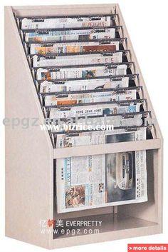 Newspaper Rack,Nespaper Shelf,Newspaper Display Stand,Newspaper Bookcase,Library Furniture / China Other Wood Furniture for sale