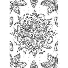 Printable para colorir Flower Mandala