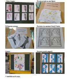 Silhouettes en mouvement, Keith Haring Personnage, Picasso & Duchamp Pantin Golconde de Magritte Personnage à base de Matisse Pop Art, Andy Warhol, les Maryline Art Brut (visage), Dubuffet Visage en noir et blanc découpé Personnage en mouvement, Giacometti...
