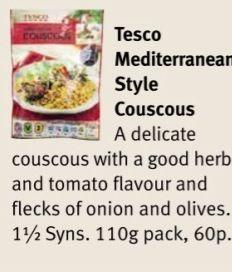 Tesco Mediterranean Style Couscous