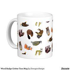 Wood Badge Critter Toss Mug Buffalo Animal, Wood Badge, Custom Mugs, Tea Cups, Coffee Mugs, Tableware, Dinnerware, Coffee Cups, Tablewares