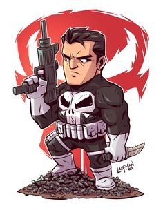 "Chibi Punisher 8.5x11"" Print — Derek Laufman"