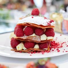 "145 Likes, 3 Comments - Bogdan Alexandrescu (@dexterchef) on Instagram: ""Raspberry milfeuille from my cooking show at Sun Plaza @sun_plaza  shot by: @sabin74 Sabin…"""