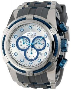 Relógio Invicta Men's 14410 Bolt Chronograph Silver Dial Grey Polyurethane Watch #Relogios #Invicta