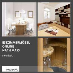 Bei MOBILAMO kannst du deine Esszimmermöbel ganz nach deinen Vorstellungen selbst konfigurieren. Ob Esstisch, Anrichte, Kommode oder einem Regal - hier findest du die perfekten Möbel für dein Esszimmer.  Du bestimmst die genauen Maße, das Material und die Ausstattung. Dein konfiguriertes Wunschmöbel bestellst du einfach online und wir liefern es. Geht doch!