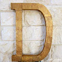 DIY embossed letter decor