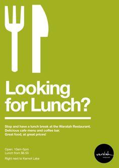 Waratah Restaurant Promotional Posters by Ryan Thomas, via Behance