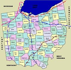 Ohio Migrations Map and Information Genealogy Sites, Genealogy Research, Family Genealogy, Family Information, Ohio Map, Family Research, My Family History, Old Maps, Before Us