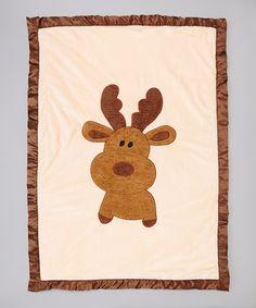 Look at this #zulilyfind! The Babymio Collection Brown Moose Stroller Blanket by The Babymio Collection #zulilyfinds