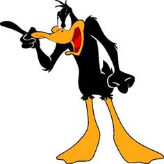Daffy, right up there with Fred Flintstone