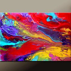 Abstract Canvas Art Painting 36x24 Original Modern Contemporary Paintings by Destiny Womack - dWo - In a Sea of Dreams