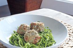 Feta turkey meatballs with zucchini past