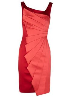 Red Cocktail Dress - Bqueen Dignature Stretch Satin Dress  $99