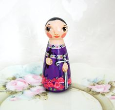 Saint Felicity wooden statue doll  ***This Saint Felicity doll will be made after purchase. Please allow up to three weeks for shipment. If you