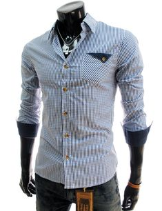 Casual Slim Fit Checked Shirt