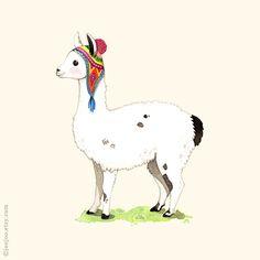 ABC-Tiere, Llama Grafik, Gemälde, Llama Abbildung, Alphabet Tiere, Kinderzimmer Wandkunst tierische Alphabet Drucken Llama, Llama L ist