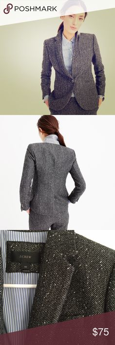 JCrew Campbell Sparkle Blazer ATTN Blazer lovers! Such a cute piece for fall and holiday! JCrew Campbell Sparkle Blazer. Beautiful gray blend wool with delicate sparkles attached throughout wool blend. J. Crew Jackets & Coats Blazers