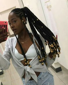 We have collected different latest cornrows braided hairstyles 2019 for African girls to wear, from the center-parted braids to the most detailed ponytail. Black Girl Braided Hairstyles, Black Girl Braids, African Braids Hairstyles, Braids For Black Hair, Girls Braids, African American Hairstyles, Black Women Hairstyles, Ethnic Hairstyles, Baddie Hairstyles