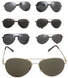 9a48172d9ee Mens Eye Wear · Metal Aviator Style Sunglasses Mirror Lens Bundle Lot 6 Men  Women Clearance Prices   To view