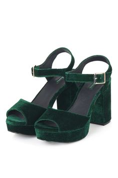 LIMBO Velvet Platform Sandals - Topshop