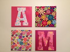 Living Unbound: DIY Easy Wall Hanging Ideas Using Canvas, Fabric, and Scrapbook Paper!