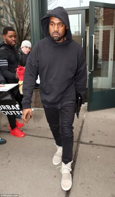 Kylie Jenner dons her Yeezy sneakers to support brother-in-law Kanye West Kanye Yeezy, Yeezy Sneakers, China, Running Tights, Kanye West, Kylie Jenner, Kardashian, Mens Fashion, Pure Products