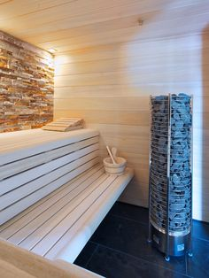 Steam Sauna, Saunas, Basement, Villa, Spa, Stairs, Wellness, Home Decor, Bath
