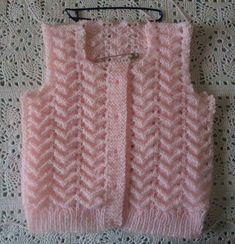 Örecegim inşallah - Her Crochet Baby Knitting Patterns, Knitting For Kids, Easy Knitting, Baby Cardigan, Baby Vest, Crochet Baby, Knit Crochet, Diy Crafts Knitting, Vest Pattern