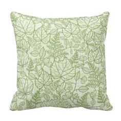 Hand drawn nature and textile inspired leaves print design. Repeating pattern design by Oksancia www.oksancia.com