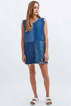 Urban Renewal Vintage Re-Made – Jeanskleid in Blau