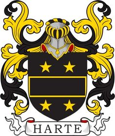 Harte Family Crest and Coat of Arms