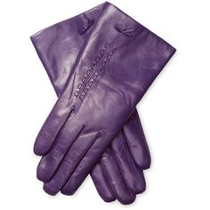 Maison Fabre Lambskin Leather Glove ($109) ❤ liked on Polyvore featuring accessories, gloves, purple, purple gloves, maison fabre gloves, lambskin leather gloves, lined gloves and maison fabre