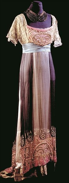 Ball gown. Paris, France 1912 | Venice, Palazzo Mocenigo Museum - Centre for the History of Textiles and Costume
