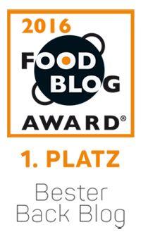 Food Blog Award 2016 - Bester Back Blog
