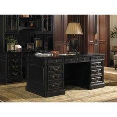 Broadmoor Weathered Black Pedestal Desk