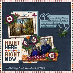 Fall Right Now-Master Scrapper Week One CREDITS: In the Moment Mini Collab by ChrissyW Digitals and Connie Prince Designs for Master Scrapper challenge 1