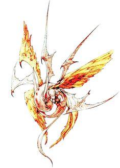 Week 16 - Final Fantasy Tactics - Concept Art Sun - Zodiac Summon